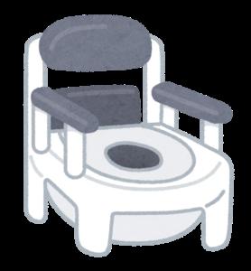 ベッド横の安心のポータブルトイレ